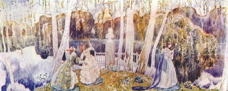borisov-musatov spring tale (sketch for a panel) 1904-5. Виктор Борисов-Мусатов