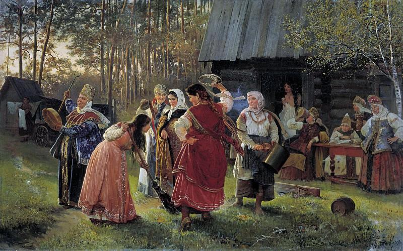 Девичник. 1889, холст, масло, 94х153 см. Алексей Корзухин