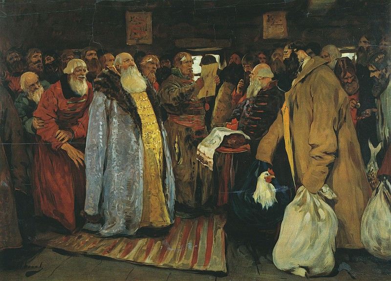 The arrival of the magistrates. Sergey Ivanov