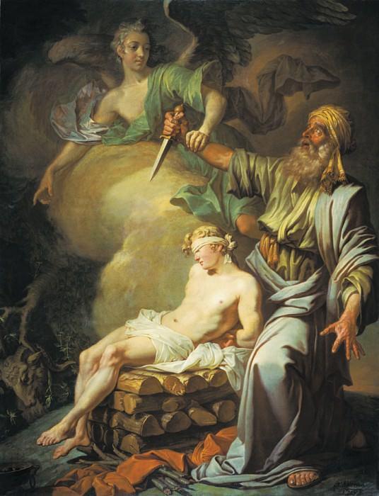 Авраам приносит в жертву сына своего Исаака. 1765. Anton Losenko