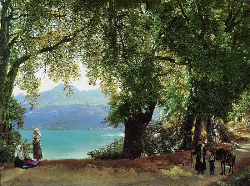 Озеро Альбано в окрестностях Рима 1825. Silvester Shedrin