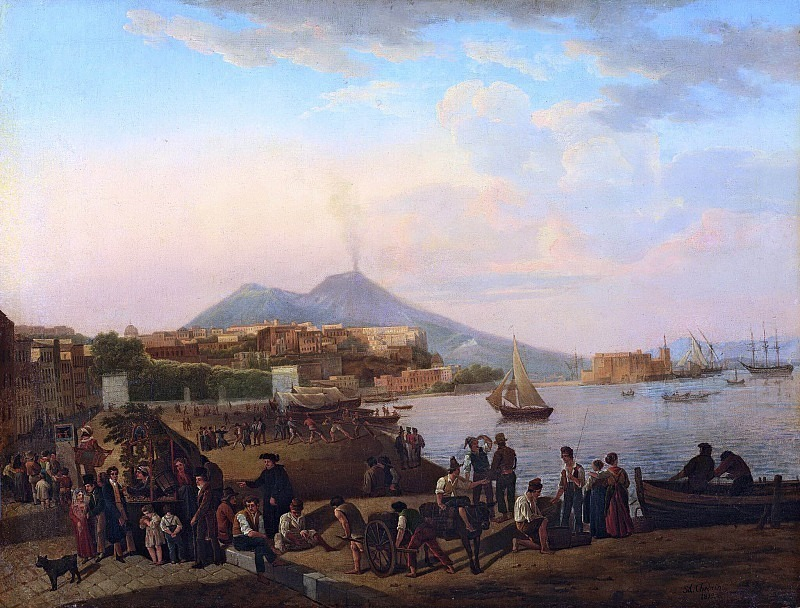 Naples. On the waterfront (Riviera di Chiaia). Silvester Shedrin