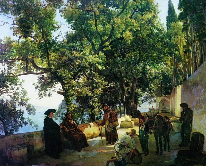 Терраса на берегу моря. Местечко Капуччини близ Сорренто. 1827. Silvester Shedrin