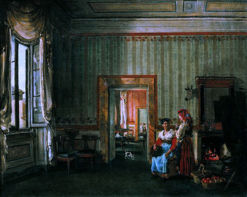 Интерьер дома князей Голицыных в Риме. Silvester Shedrin