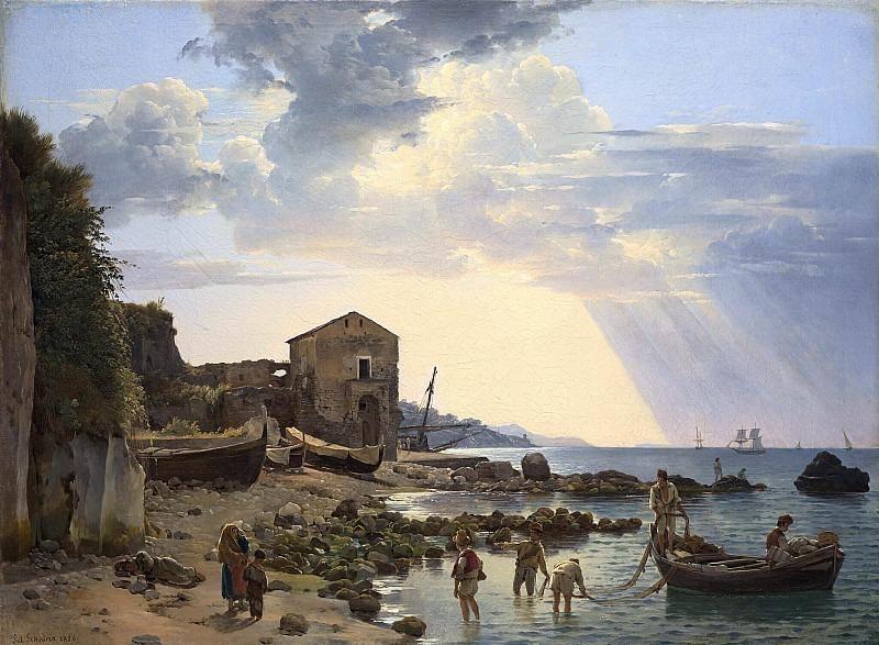 Малая гавань в Сорренто с видом на острова Искья и Прочидо. Сильвестр Феодосиевич Щедрин