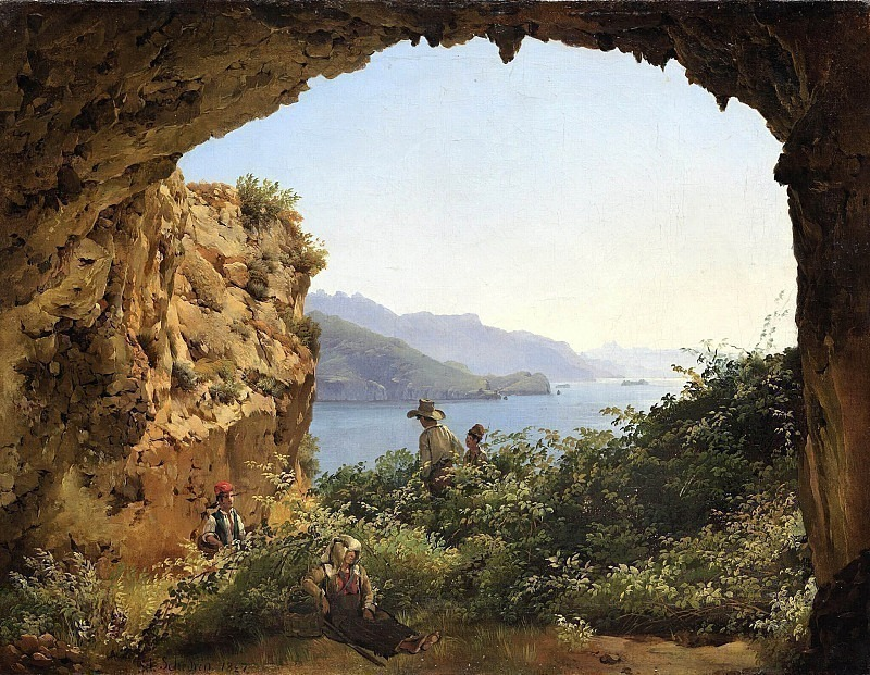 Grotto Matromanio on the island of Capri. Silvester Shedrin
