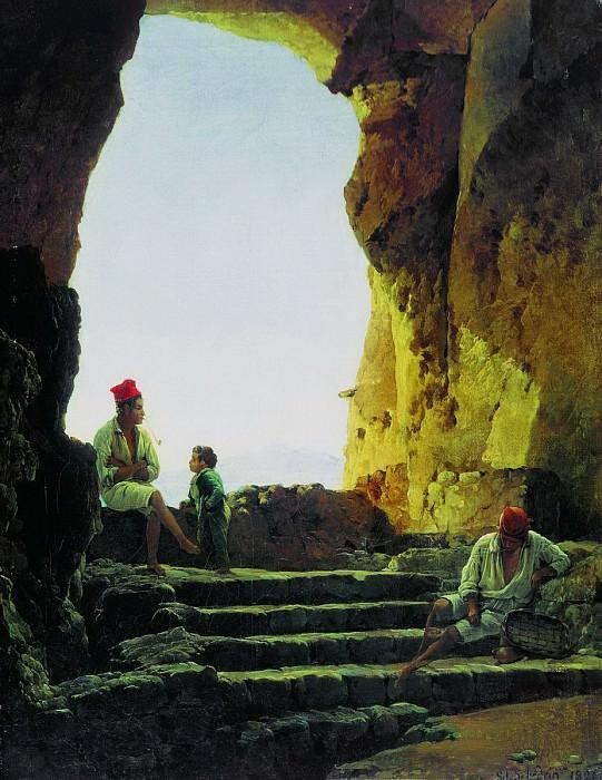 Грот в Сорренто. 1826. Сильвестр Феодосиевич Щедрин