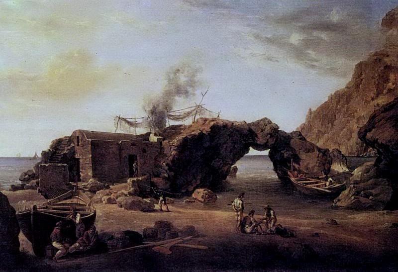 Скалы Малой гавани на острове Капри. Не ранее 1827. Silvester Shedrin