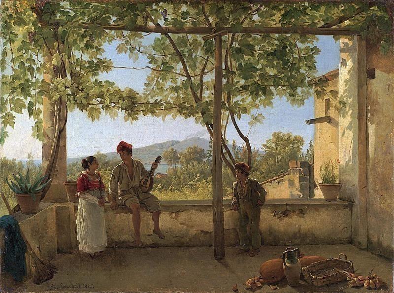 Terrace in Sorrento. Silvester Shedrin