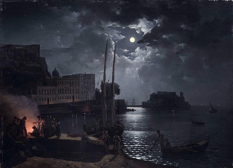 Лунная ночь в Неаполе. Сильвестр Феодосиевич Щедрин