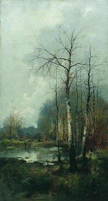 Лесной пейзаж. 1880-e. Ефим Волков