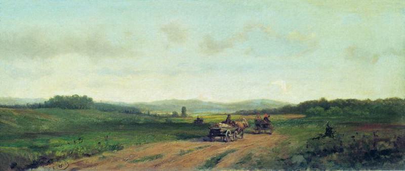 Холмистый пейзаж с дорогой. Efim Volkov