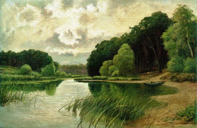 Лесная речка. 1900-е. Efim Volkov