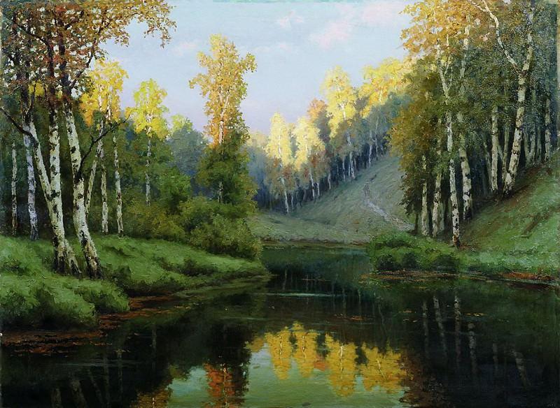 Лесное озеро. 1910. Efim Volkov