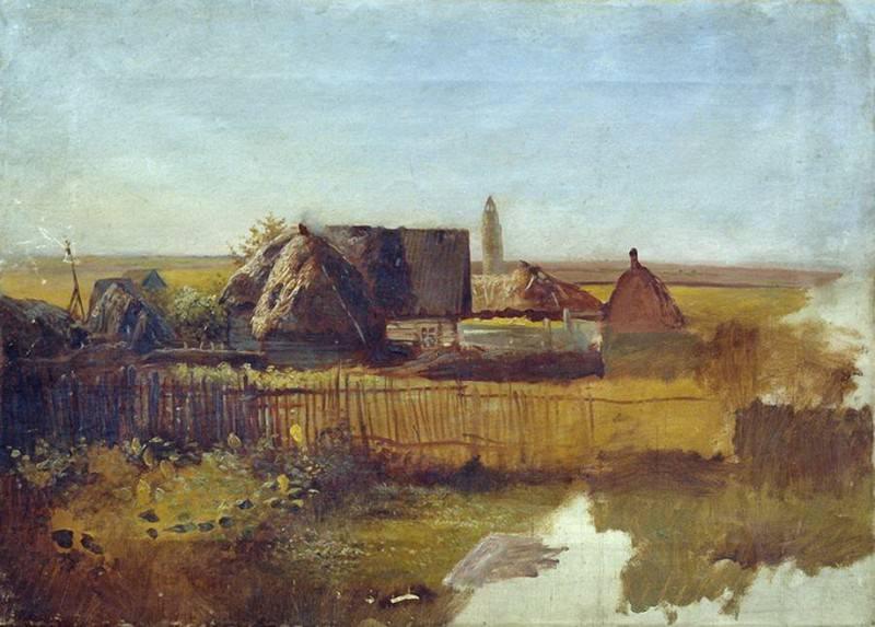 Сельский пейзаж. Efim Volkov