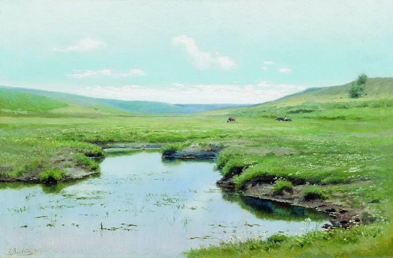 Заросшая река. 1895. Efim Volkov
