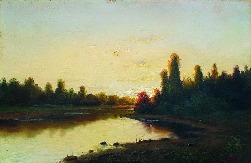 Закат на реке. 1900-е. Ефим Волков