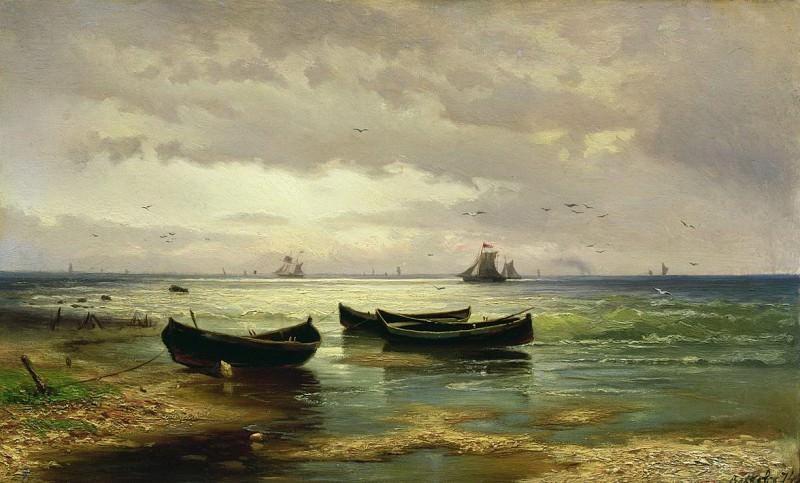 Взморье. Рыбацкие лодки. 1874. Efim Volkov
