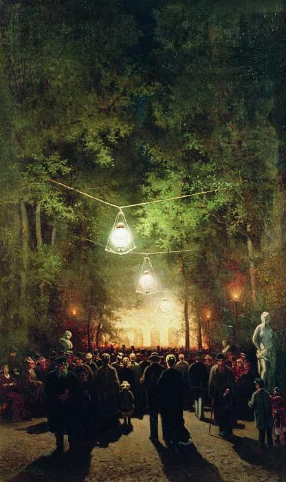 Гулянье в Летнем саду. 1890-е. Efim Volkov