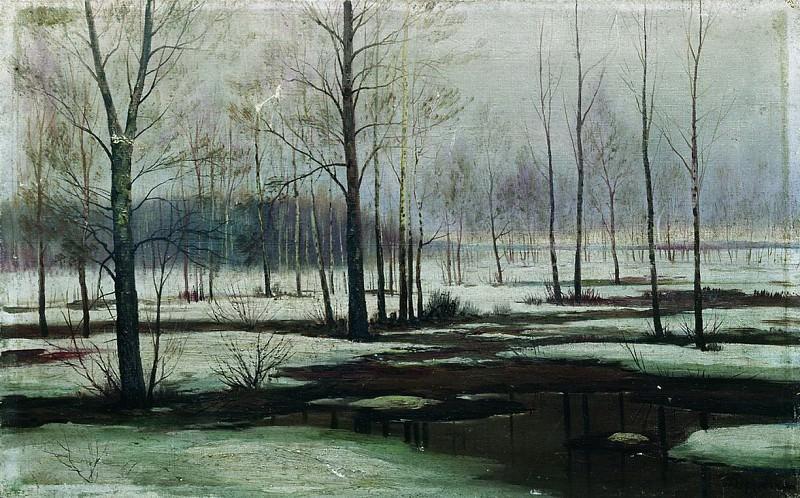Зимний пейзаж. Ефим Волков