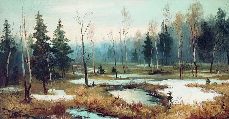 В конце зимы. 1890. Efim Volkov