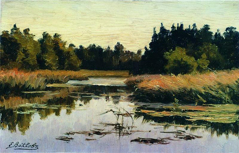 Лесная река. 1890. Efim Volkov