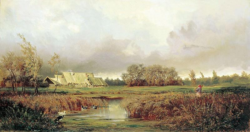 Болото осенью 1871 Холст масло. Efim Volkov