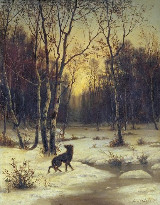 Зимний пейзаж. 1876. Ефим Волков