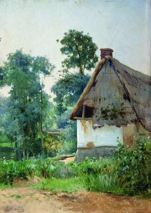 Пейзаж с заброшенным домом. 1897. Ефим Волков