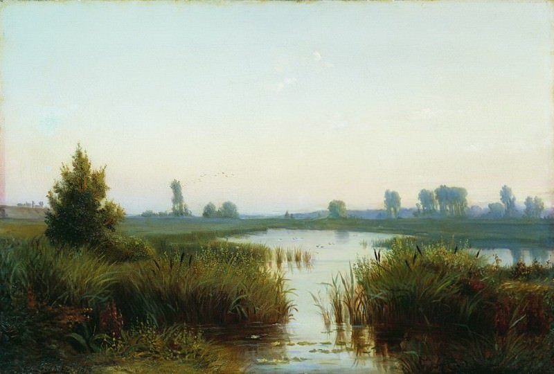 Пейзаж с болотом. 1898. Ефим Волков