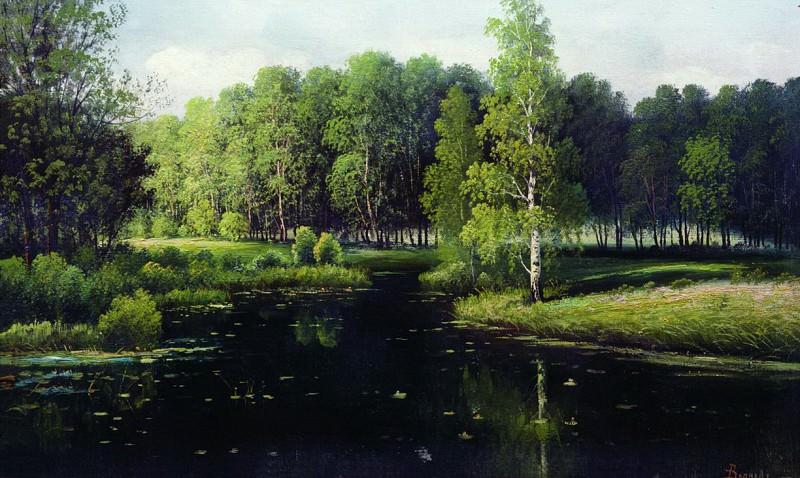 Лесной пейзаж. Efim Volkov