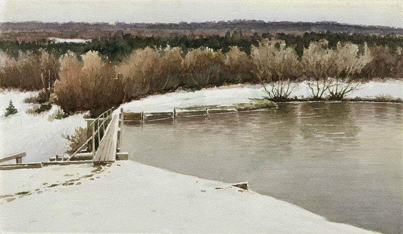 Зимний пейзаж. 1893. Efim Volkov
