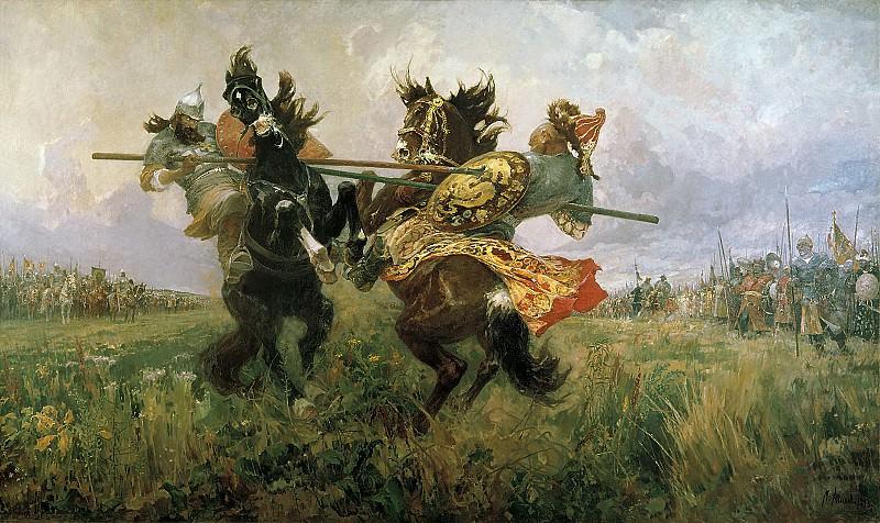Поединок Пересвета с Челубеем на Куликовом поле. Mikhail Avilov