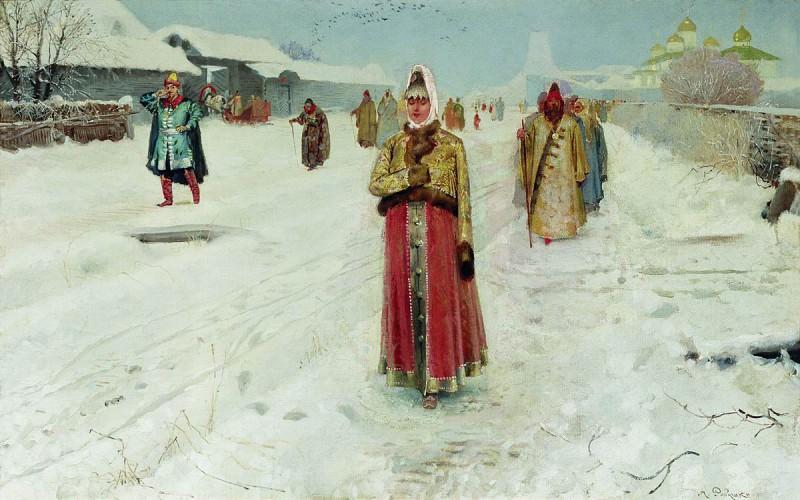 Воскресный день. 1889. Andrei Riabushkin
