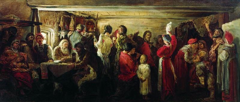 Крестьянская свадьба в Тамбовской губернии. 1880. Андрей Рябушкин