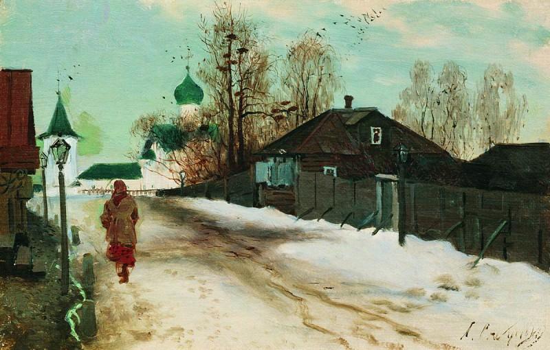 Михайловская улица в Новгороде. 1899. Andrei Riabushkin
