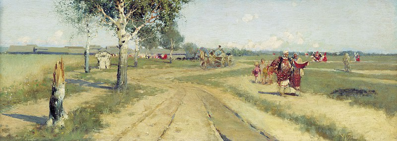 Returning from the fair. Andrei Riabushkin