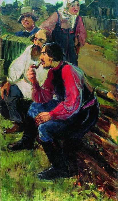 На гулянке. 1899. Андрей Рябушкин