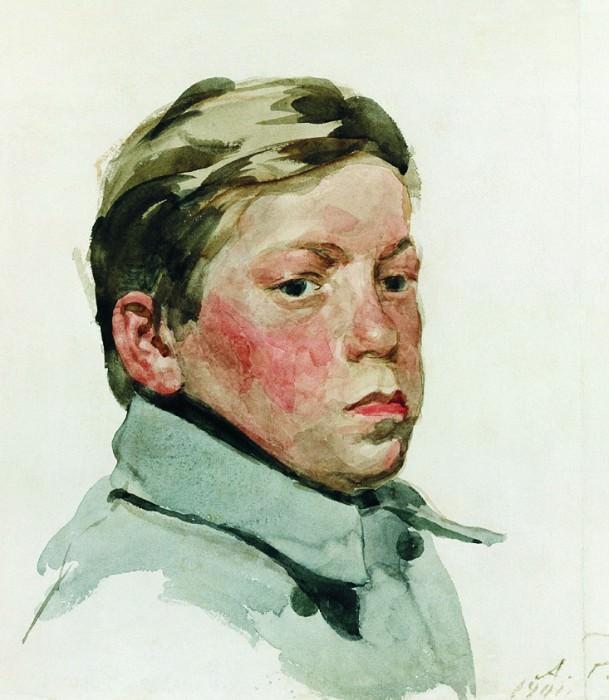 Голова парня. 1901. Andrei Riabushkin