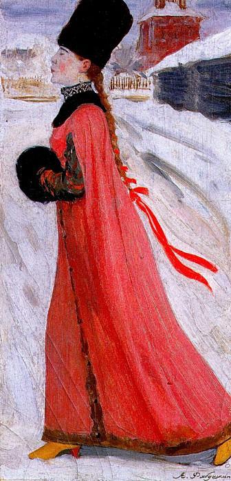 a 17th century muscovite girl 1903. Андрей Рябушкин