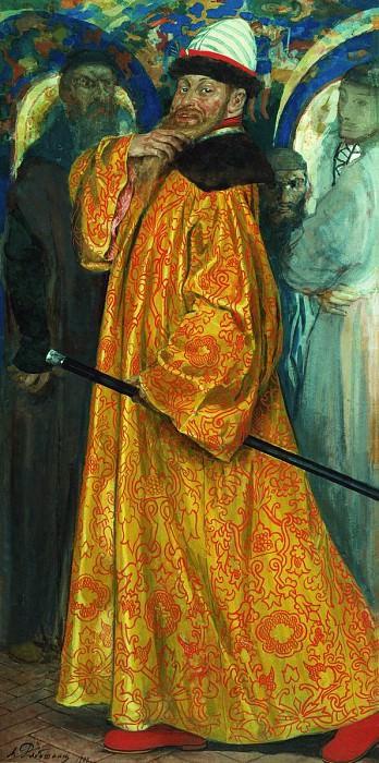 Пожалован шубой с царского плеча. 1902. Андрей Рябушкин