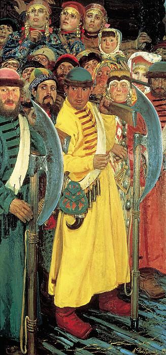 Едут! 1901, холст, масло, 37х55 см.. Andrei Riabushkin