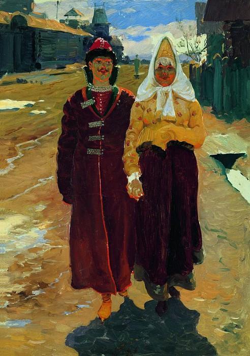 В гости. 1896. Андрей Рябушкин