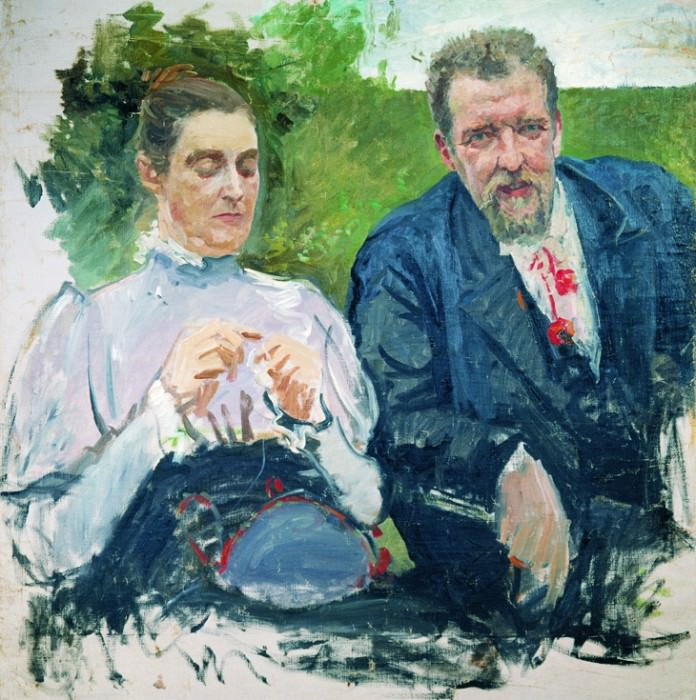 Портрет И.Ф,Тюменева с женой. 1890-е. Andrei Riabushkin