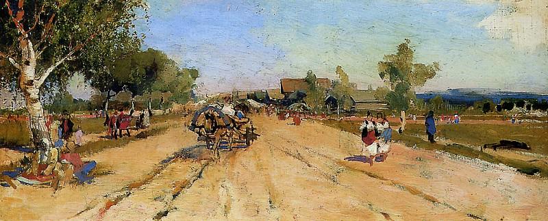 Returning from a fair. Андрей Рябушкин