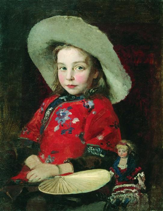 Девочка с куклой. Первая половина 1890-х. Andrei Riabushkin