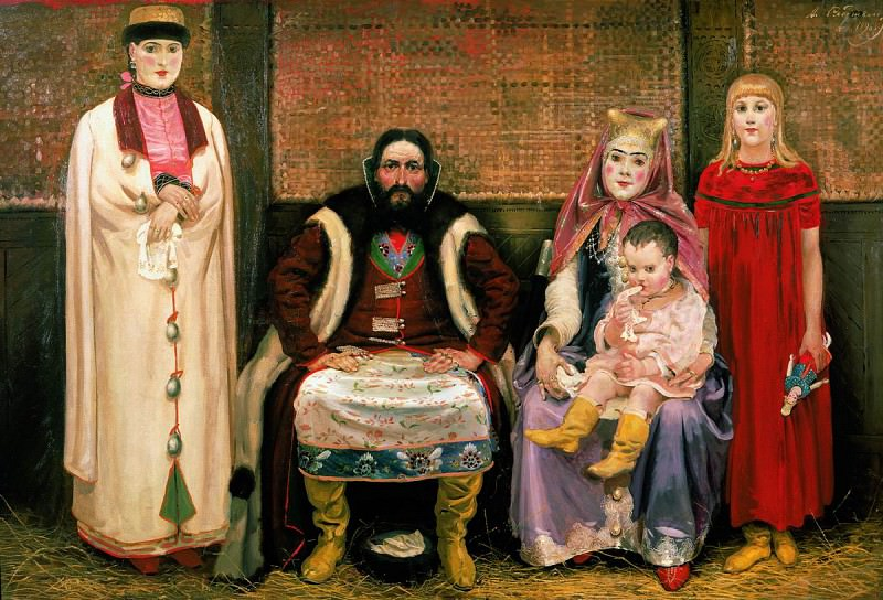 Семья купца в XVII веке. 1896. Андрей Рябушкин