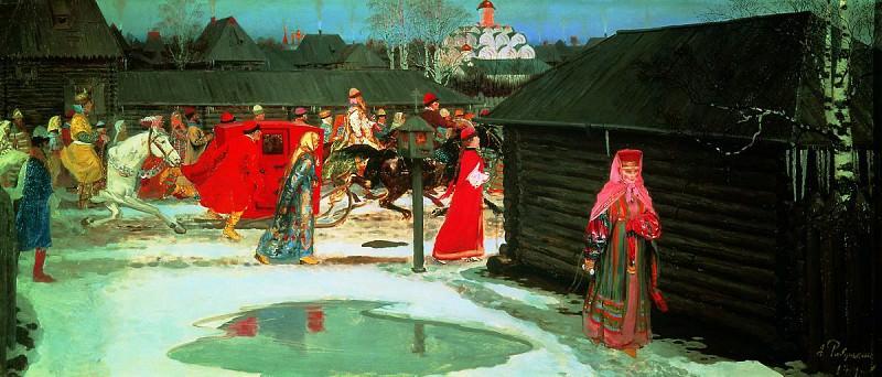 Свадебный поезд в Москве (XVII столетие). 1901. Andrei Riabushkin