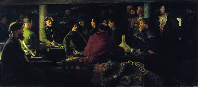 Потешные Петра I в кружале. 1892. Andrei Riabushkin
