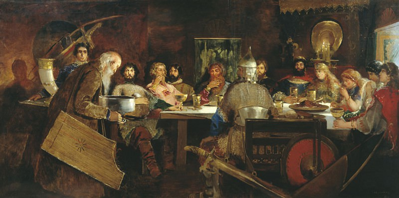 Heroes Feast at Affectionate Prince Vladimir. Andrei Riabushkin